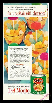 1954 Vintage Prind Ad~Del Monte~Fruit Cocktail with Character~Kids Treat~J600
