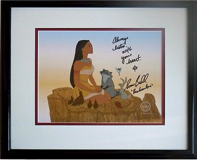 Pocahontas Disney cel Limited edition signed Voice Irene Bedard Signed COA