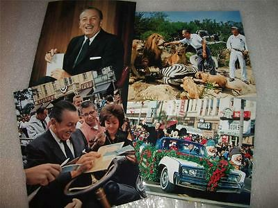 Walt Disney in COLOR 8x10 photograph 1960s images Rose Parade Last Corporate