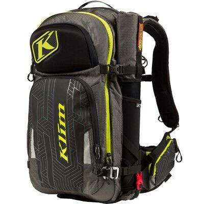 Klim Krew Pak Shovel Probe Goggle Storage Backpack Gray Hi-Vis 4012-002-000-330