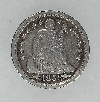 1853 Arrows Seated Liberty Dime 10C Vf / Xf Very Fine / Extra Fine (7033)