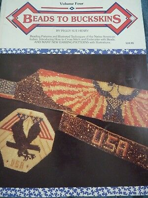 Beads to Buckskins Vol. 4  Patterns & Design Book 1991 perfect condition beading