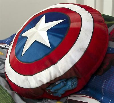 Marvel Avengers Captain America Shield Pyjama Cushion Shaped 3D Novelty Gift