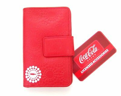 Coca-Cola Coke Silver Logo Genuine Red Wallet Clutch New Official Nwt