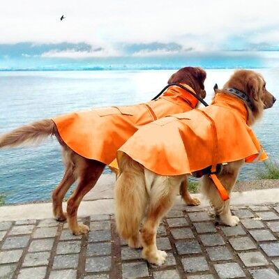 Imperméable pour Chien orange Teddy Oren Retriever Grand Pratique Respirant SM