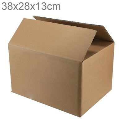 Emballage d'expédition Moving Kraft Paper Boxes, Taille: 38x28x13cm