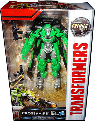 Transformers The Last Knight Crosshairs Deluxe Action Figure Premier Edition MIB