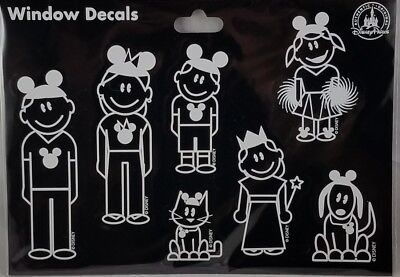 Disney Parks Family Set Vacation Window Decals Sticker Auto SUV Car - NEW