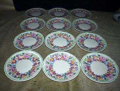 Set 12 Crown Staffordshire #15227 Handpainted Salad/dessert Plates – Springtime