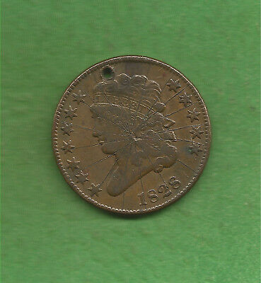 1828 Classic Head, Half Cent, 12 Stars. Only 606,000 Were Minted, 190 Years Old!