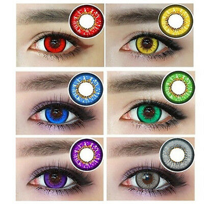 1 Pair Cosplay Big Eyes Unisex Fashion Coloured Contact Lenses Con Clase ES