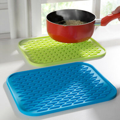 Durable Heat Resistant Insulation Silicone Mat Placemat Non-slip Pan Pot Holder