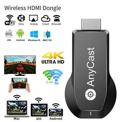 AnyCast WiFi Display TV Stick Miracast Airplay DLNA Screen Mirroring 4K 2.4G/5G