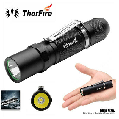 ThorFire TG06S LED 500LM Mini Tactical Flashlight Pen Clip Torch Waterproof New