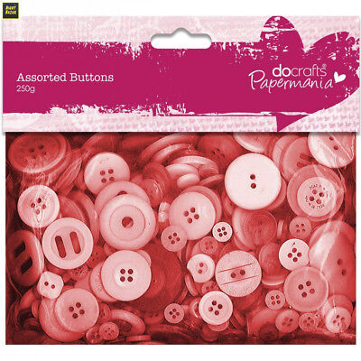 Papermania Assortiments de boutons Rouge 250 g