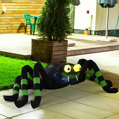 4FT Halloween Inflatable Animated Scary Spider Led Outdoor Yard Decorations