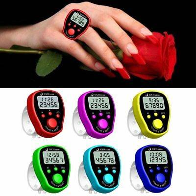 Finger Counter Clock LCD Electronic Digital Tally Counters with Time & Backlight