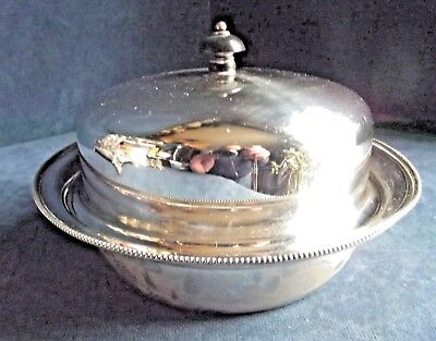 "SUPERB Large 8"" ~ HARRODS ~ SILVER Plated ~ Muffin SERVING Dish ~ c1920"