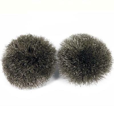 Girls kids children pom pom fluffy Silky pair of Pom Poms, Craft Silver Grey P1