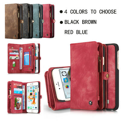 CaseMe Luxury Leather Wallet Case Stand Magnetic Cover For iPhone X 8 7 6 Plus