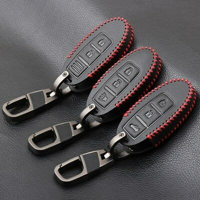 Leather Car key cover for nissan qashqai juke almera tiida x trail car case