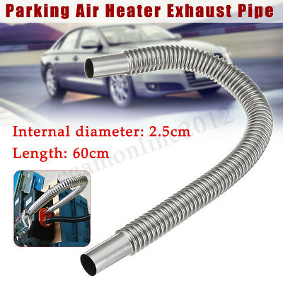 Car Stainless Steel Exhaust Pipe Parking Air Heater Tank Diesel Gas Vent Hose