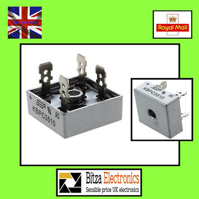 KBPC3510 35A 1000V Single Phase Square Diode PCB Bridge Rectifier UK Seller