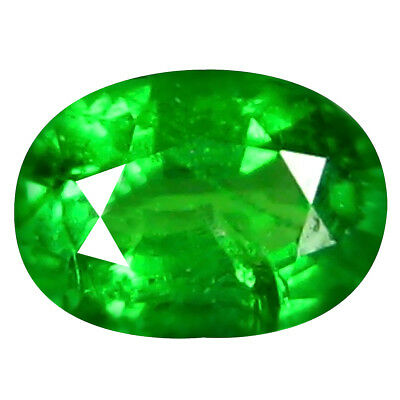 0.44 Ct Fabuleux Coupe Ovale (5 X 4 mm) Russe Tsavorite Grenade Libre