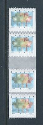 Canada #1878i Domestic First-Class Rate Coil Gutter Strip of 4 MNH Free Shipping
