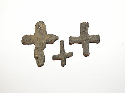Three ancient Byzantine lead cross. Byzantium. сa 5-7 AD