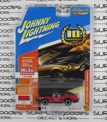 Johnny Lightning MiJo M&J Toys Exclusive Red 1980 DATSUN 280ZX 10th Anniversary