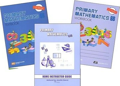 Primary Mathematics 6B Textbook, Workbook, & Home Instructor Guide U.S. Edition