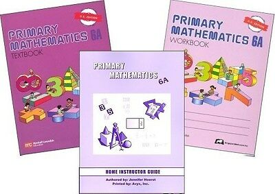 Primary Mathematics 6A SET -- Textbook, Workbook, & Home Instructor U.S. Edition