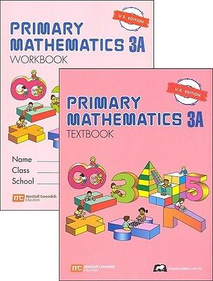 Primary Mathematics 3A Textbook and Workbook - U.S. Edition    NEW