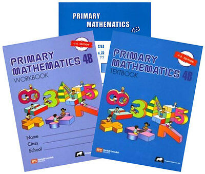 Primary Mathematics 4B Textbook, Workbook, & Home Instructor Guide U.S. Edition