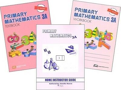 Primary Mathematics 3A SET -- Textbook, Workbook, & Home Instructor U.S. Edition