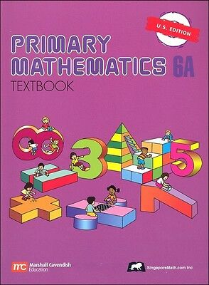 Primary Mathematics 6A Textbook - U.S. Edition NEW