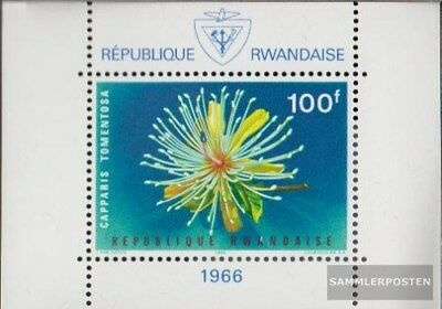 Rwanda Block6A (complete.issue.) unmounted mint / never hinged 1965 Flowers