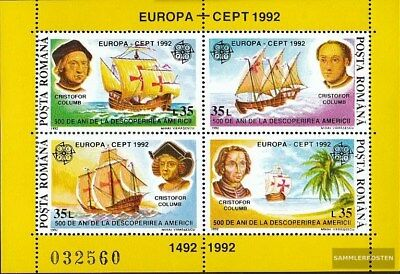 Romania block271 (complete.issue.) unmounted mint / never hinged 1992 Discovery
