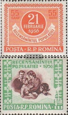 Romania 1563-1564 (complete.issue.) unmounted mint / never hinged 1956 Census