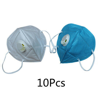 10Pcs Cotton PM2.5 Anti Haze Mask Breath Valve Anti-dust Respirator Mask US
