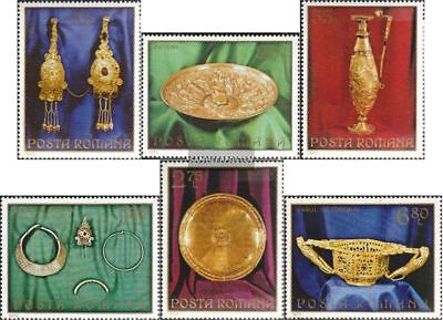 Romania 3140-3145 (complete.issue.) unmounted mint / never hinged 1973 gold trea
