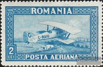 Romania 337Y with hinge 1928 post flight marks