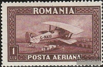 Romania 336Y with hinge 1928 post flight marks