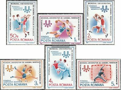 Romania 4341-4346 (complete.issue.) unmounted mint / never hinged 1987 Handball