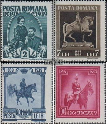 Romania 586C-589C (complete.issue.) unmounted mint / never hinged 1939 King Karl
