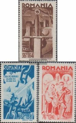 Romania 760-762 (complete.issue.) unmounted mint / never hinged 1943 Kriegseintr