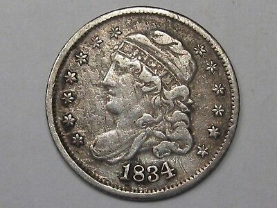 XF 1834 US Capped Bust Half Dime (Cleaned).  #44