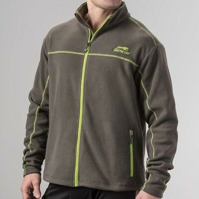 Arctic Cat Men's Aircat Heavyweight Full-Zip Fleece Sweatshirt - Gray - 5283-19_