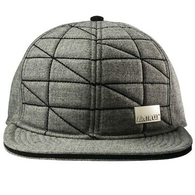 Arctic Cat Men's Quilted Crown Flat Brim Fitted Cap - Gray - 5263-089 5263-090